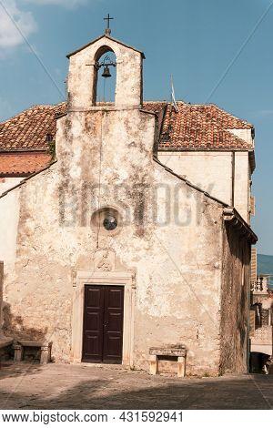 Small Church In The Old Town Of Korcula, Croatia.