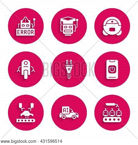 Set Electric Plug, Autonomous Smart Car, Industrial Production Of Robots, Turn Off From Phone, Robot