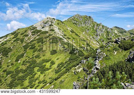 Otrhance Mountain Ridge, Western Tatras Mountains, Slovak Republic. Hiking Theme. Seasonal Natural S
