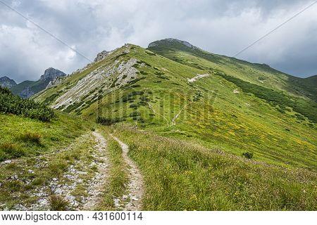 Kopske Saddle In Belianske Tatras Mountain, Slovakia Republic. Seasonal Natural Scene. Travel Destin