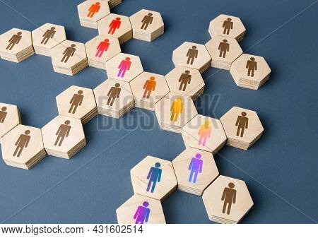 A Chain Of Communicating People. Cooperation For Solving Tasks. Unity And Diversity. Networking. Mul