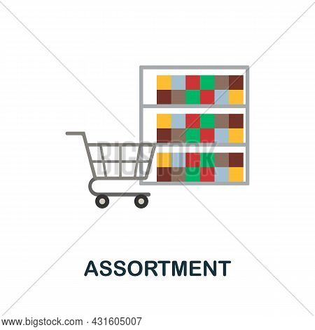 Assortment Flat Icon. Simple Sign From Procurement Process Collection. Creative Assortment Icon Illu