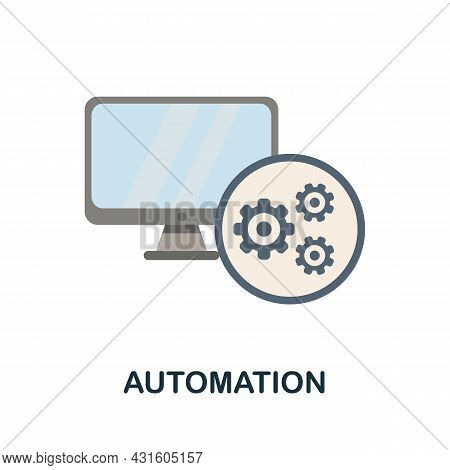 Automation Flat Icon. Colored Sign From Productivity Collection. Creative Automation Icon Illustrati