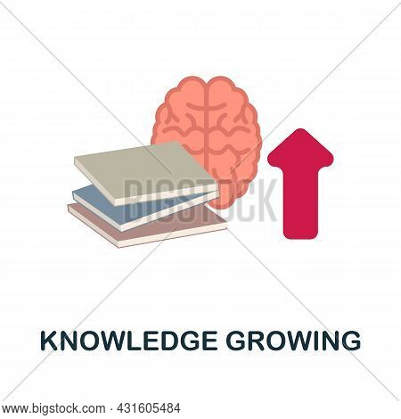 Knowledge Growing Flat Icon. Colored Sign From Productivity Collection. Creative Knowledge Growing I