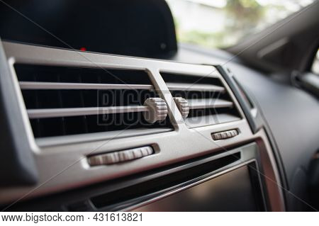 Air Conditioner In Compact Car Close Up