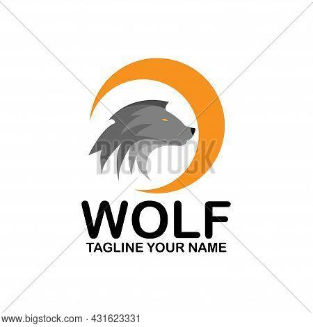 Wolf Animal Design Logo Vector. Wolf Animal Template