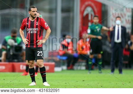 Alessandro Florenzi Of Ac Milan  Looks On During The Serie A Match Between Ac Milan And Cagliari Cal