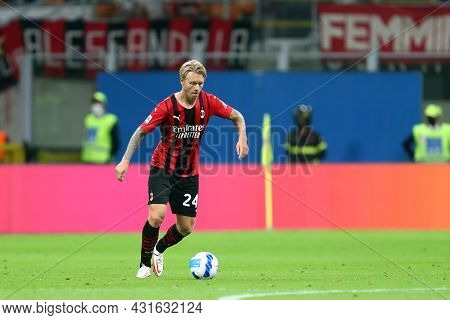 Milano, Italy.  29 August 2021. Simon Kjaer Of Ac Milan  During The Serie A Match Between Ac Milan A