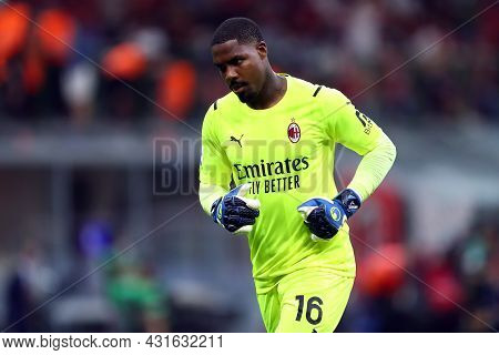 Milano, Italy.  29 August 2021. Mike Maignan Of Ac Milan  During The Serie A Match Between Ac Milan