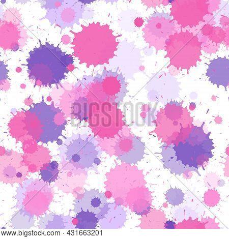 Paint Stains Seamless Splatter, Spray Blots, Spots