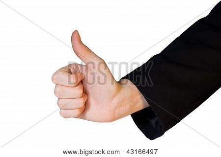 Business Hand In Thumb Up Gesture
