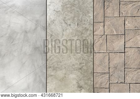 Microcement Polished Concrete And Stamped Concrete Compare, Different Textures And Finishes Exterior
