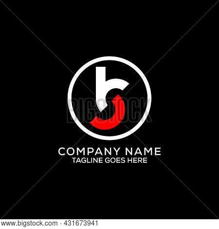 Initial Letter Name Bs Logo Design Vector With Circle Frame Vector Illustration, Monogram Modern Let