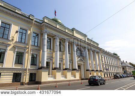 St. Petersburg, Russia - July 09, 2021: The Building Of The Leningrad Regional Court In St. Petersbu