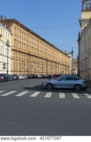 St. Petersburg, Russia - July 09, 2021: Street View Of Tchaikovsky In St. Petersburg