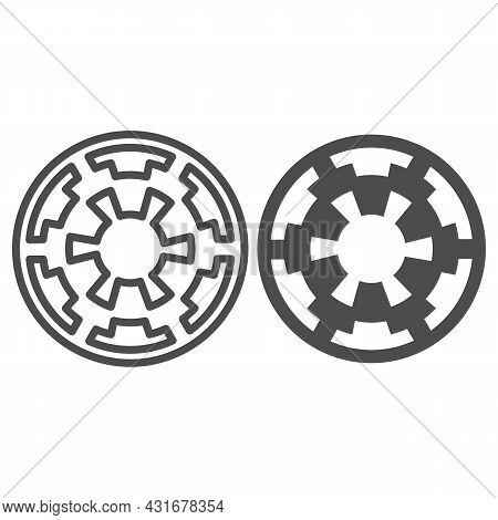 Galactic Empire Emblem Line And Solid Icon, Star Wars Concept, Imperium Vector Sign On White Backgro