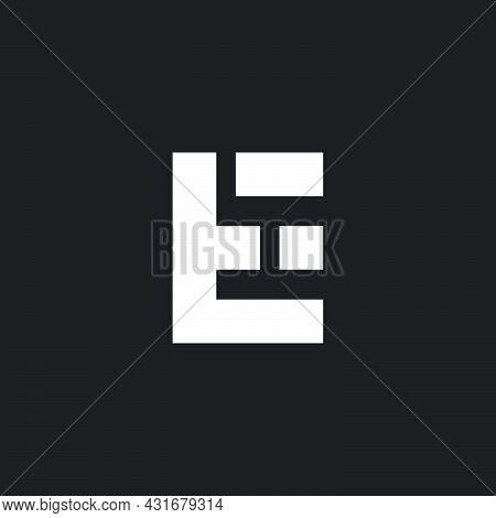 Letter Et Simple Geometric Slice Logo Vector
