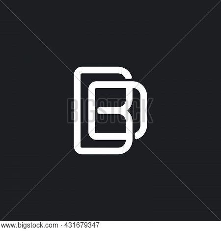 Letter Bd Simple Overlapping Geometric Line Logo Vector
