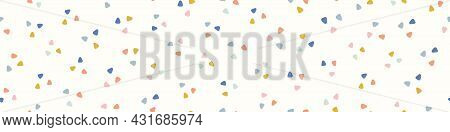 Abstract Triangle Border Pattern Background. Cute Vector Geometric Seamless Repeat Of Hand Drawn Tri