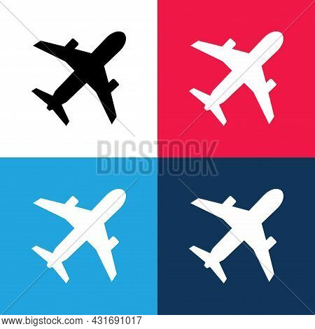 Airplane. Airplane Icon Illustration Isolated On Different Color Background. Airplane Icon. Airplane
