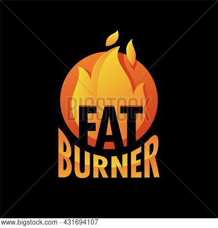 Fat Burner Capsules Icon - Food Supplement For Weight Loss And Increasing Energy. Vector Illustratio