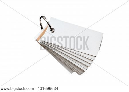 Blank Ring Memo Isolated On White Background