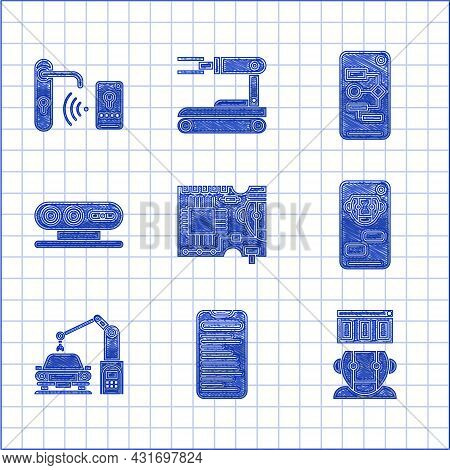 Set Printed Circuit Board Pcb, Robot, Bot, Industrial Machine Robotic Robot Arm Hand, 3d Scanning Sy