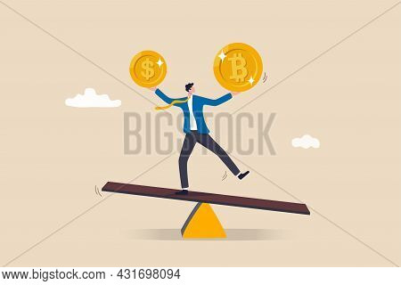 Investment Portfolio With Bitcoin Or Crypto Currency, Buy Or Sell Trading, Crypto Market Exchange Va