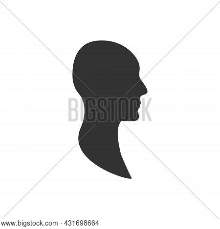Anonymous Profile Avatar Of A Side View Male Face.