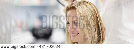 Hairdresser Making Bob Haircut In Beauty Salon