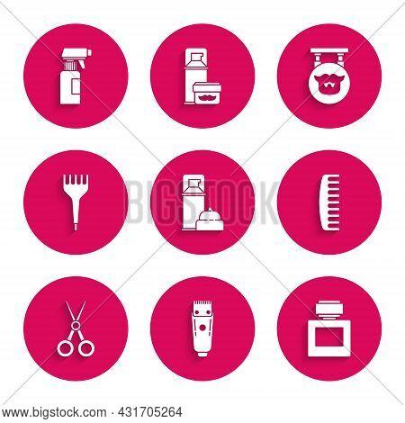 Set Shaving Gel Foam, Electrical Hair Clipper Or Shaver, Aftershave, Hairbrush, Scissors Hairdresser