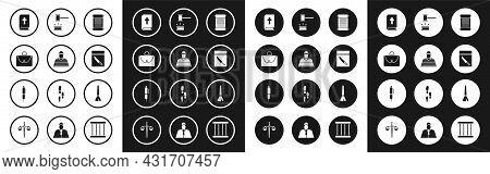 Set Decree, Paper, Parchment, Scroll, Prisoner, Briefcase, Holy Bible Book, Evidence Bag And Knife,