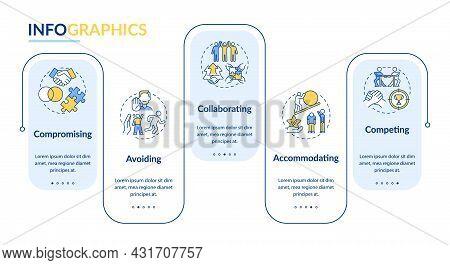 Relation Problems Resolution Vector Infographic Template. Conflicts Presentation Outline Design Elem