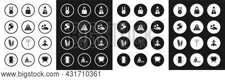 Set Magician, Masons, Fog Or Smoke, Rabbit With Ears, Cube Levitating Above Hand, Mantle, Cloak, Cap