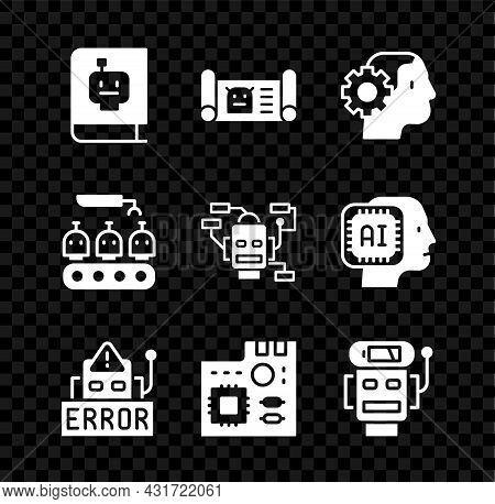 Set User Manual, Robot Blueprint, Humanoid Robot, Error, Motherboard Digital Chip, Low Battery Charg