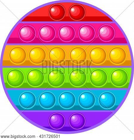 Pop It Popit Is A Fidget Childrens Sensory Toy In The Form Of A Circle.