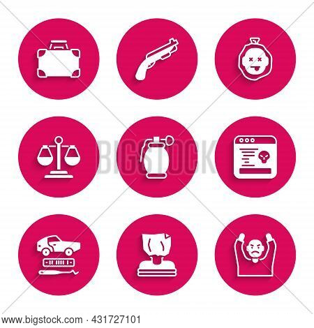 Set Hand Grenade, Kidnaping, Thief Surrendering Hands Up, System Bug, Car Theft, Scales Of Justice,