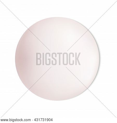 Soap Bar Isolated, Solid Piece. Pink Circle Shape Bar Closeup, Washing Toiletries. Soapy Hands Deter