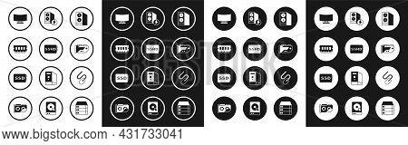 Set Case Of Computer, Sshd Card, Ram, Random Access Memory, Computer Monitor Screen, Video Graphic,