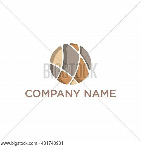 Natural Stone Cleaning And Maintenance Logo Design Vector. Natural Stone Industry Logo Vector Image