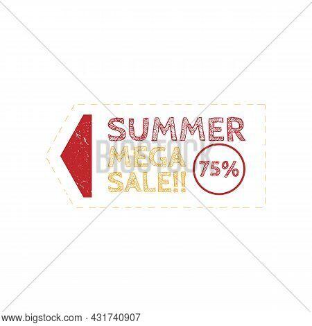 Summer Sale Rubber Stamp Design Vector Image. Sale Logo Grunge Rubber Stamp Emblem Vector Image. Sum