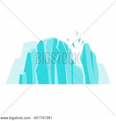 Melting Glaciers Icon Cartoon Vector. Arctic Iceberg. Global North Ice