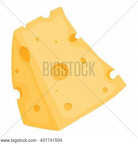 Cheese Cheddar Icon Cartoon Vector. Food Slice Cheese. Swiss Gouda Parmesan