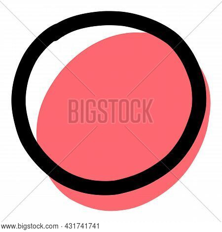 Doodle Circle Icon Outline Hand Drawn Vector. Roung Sketch. Scribble Stroke Pen Circle
