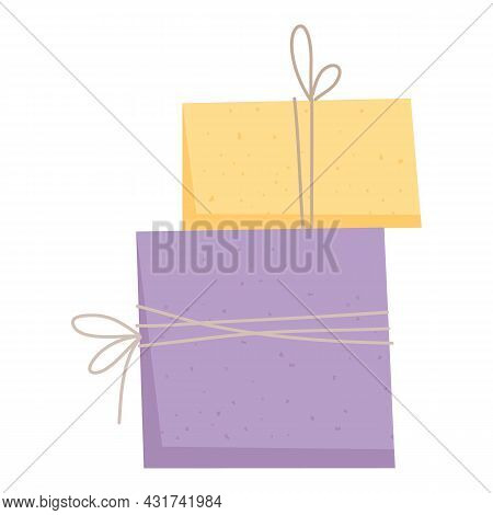 Delivery Box Icon Cartoon Vector. Carton Parcel. Post Shipping Package
