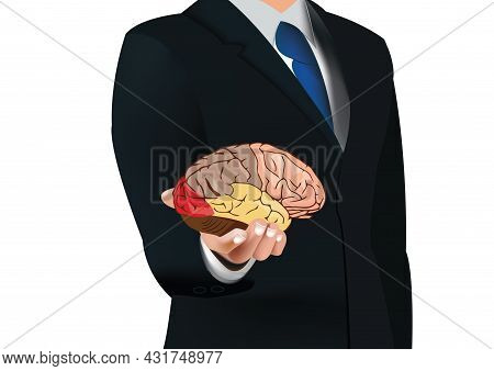 Distinguished Person In Human Brain Lift Jacket