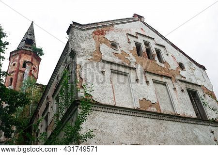 Ruins Of The East Prussian  Barracks And Psychiatric Hospital Allenberg
