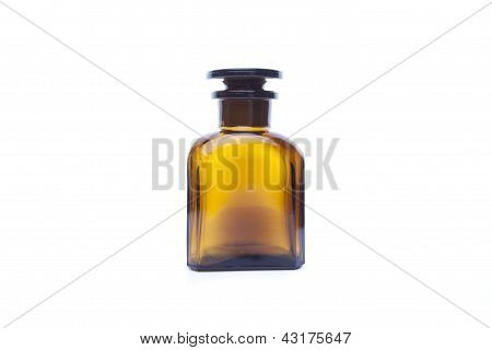 Magic Bottle For Potions Isolated On White Background