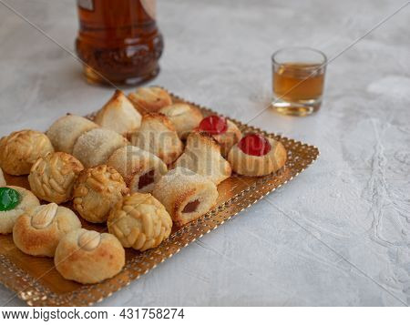 Panellets, A Typical Pastry Of Catalonia, Spain, In All Saints Holiday.