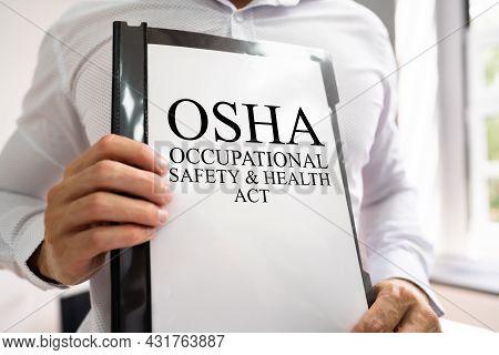 Osha Workplace Safety Document. Safe Work Management